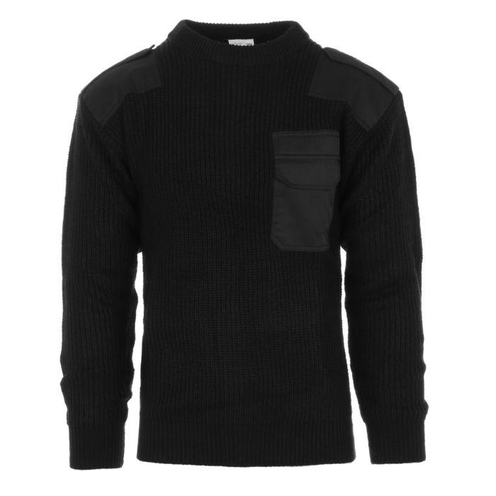 Commando trui zwart acryl