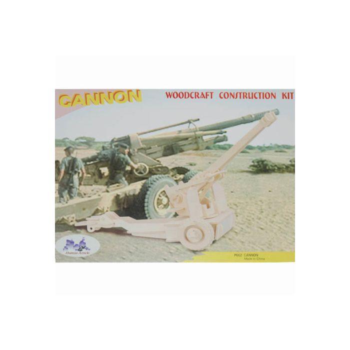 Houten bouwpakket kanon