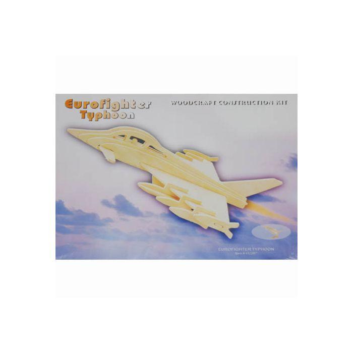 Houten bouwpakket Eurofighter Typhoon vliegtuig