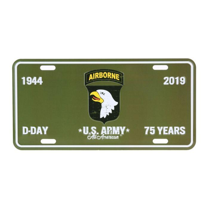 Nummerplaat D-Day 101st Airborne