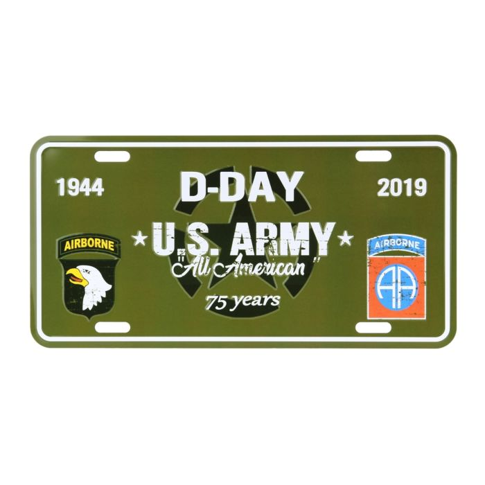 Nummerplaat D-Day US Army