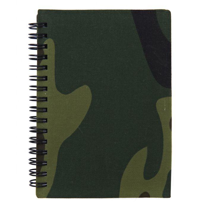 Notitieboek A6 woodland camo