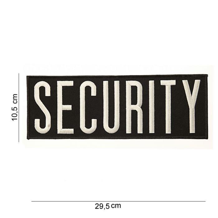 Embleem Security groot zwart