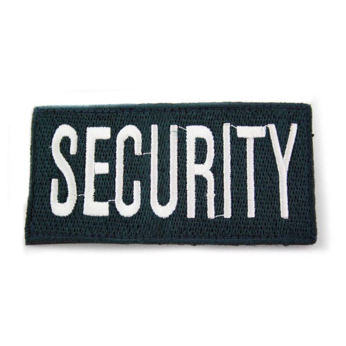 Embleem Security dik blauw