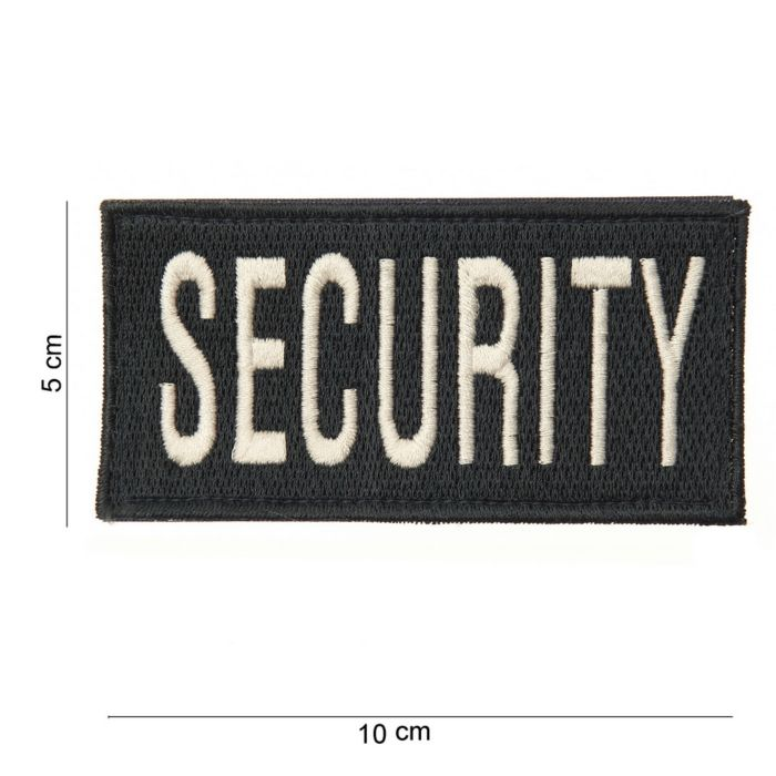 Embleem Security dik zwart