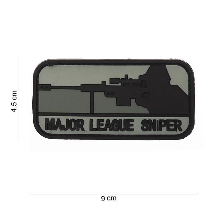 Embleem 3D PVC Major League Sniper dark