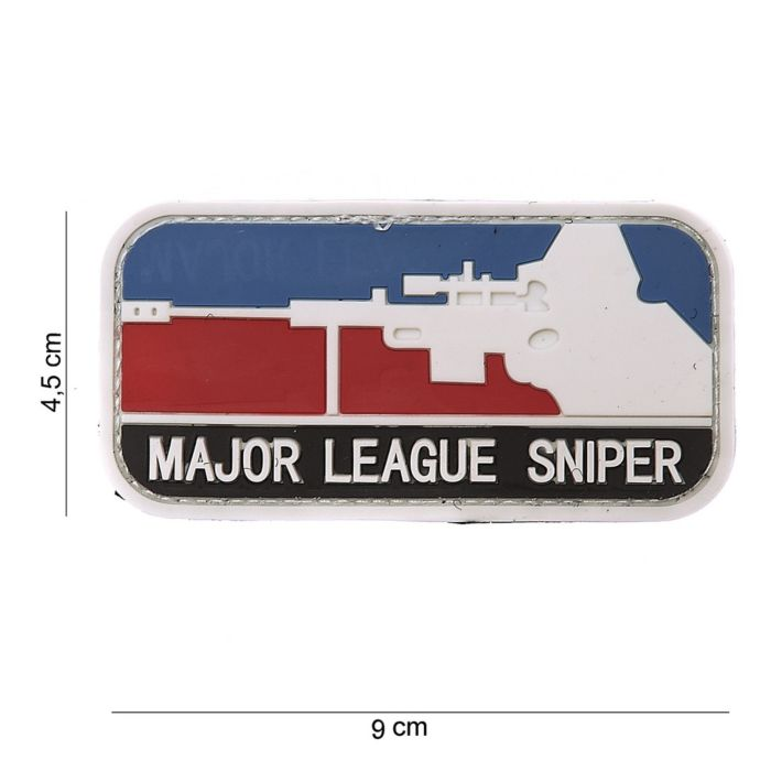 Embleem 3D PVC Major League Sniper color