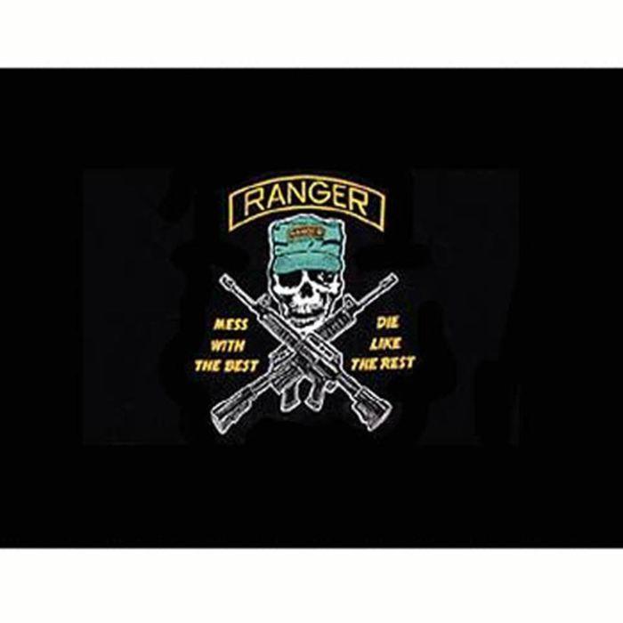 vlag US Ranger zwart