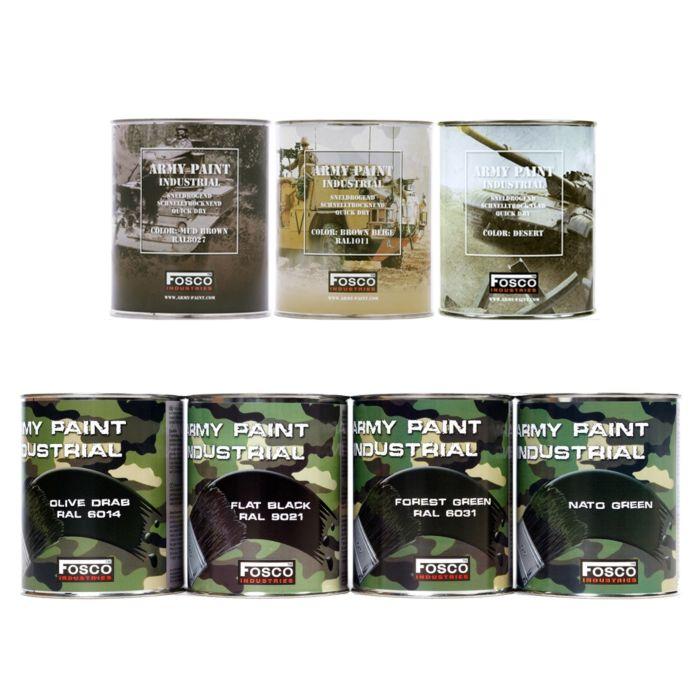 Fosco Blik legerverf 1 liter Forest green