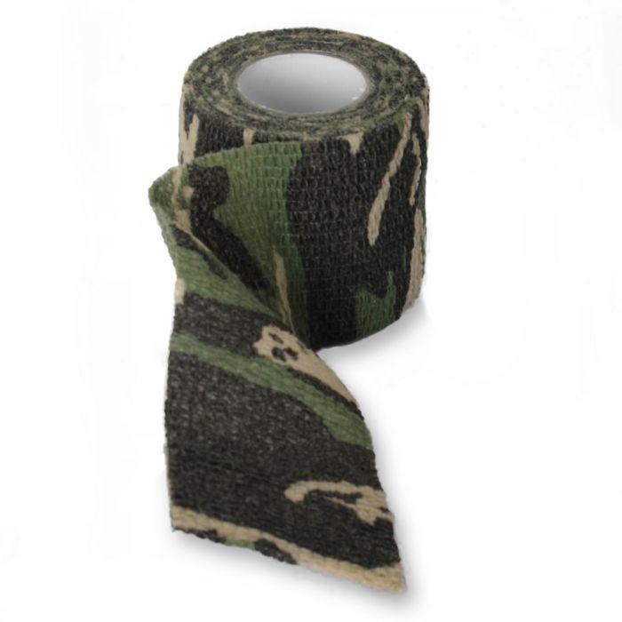 Fosco stretch bandage woodland camo