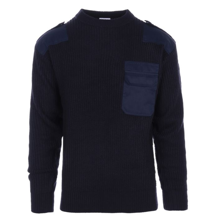 Commando trui donkerblauw acryl