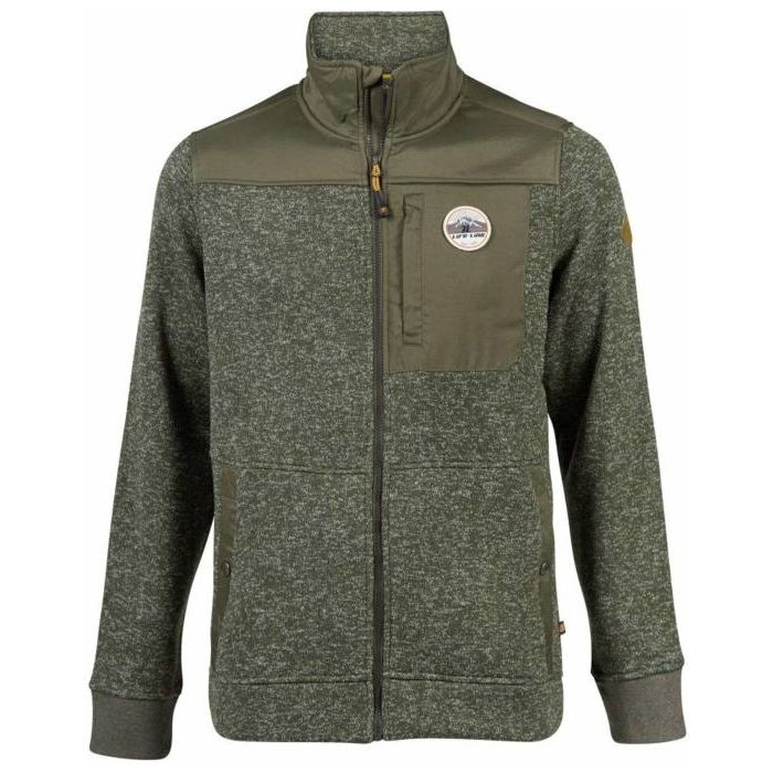 Life-Line Jimmy Fleece Full Zip Collar olive