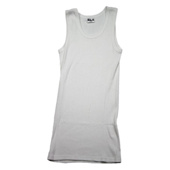 Fostex KL rib hemd (singlet) wit