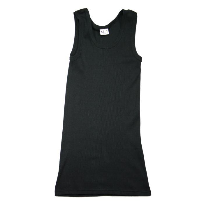 Fostex KL rib hemd (singlet) zwart