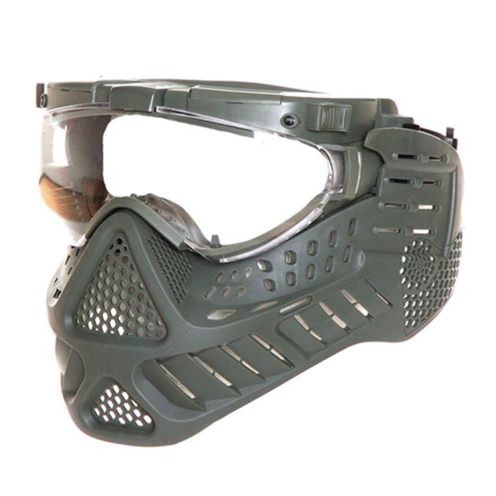 Fostex masker met LED verlichting groen