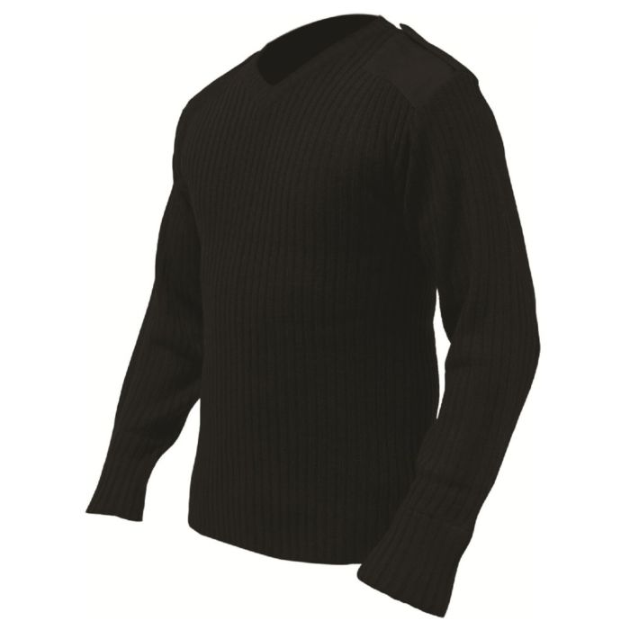 Highlander Pullover V-Neck acrylic black