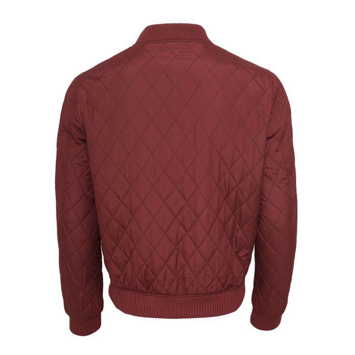 Urban Classics Diamond Quilt Nylon BomberJacket Burgundy Red