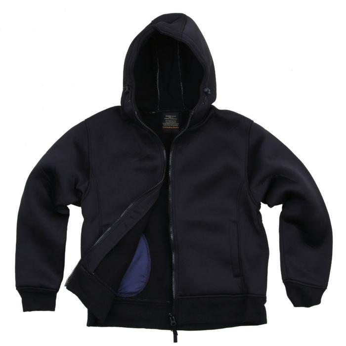 Fostex hooded neoprene vest zwart